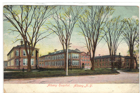 Albany Hospital-Albany,New York UDB Post Card - 1