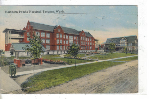 Northern Pacific Hospital-Tacoma,Washington Post Card - 1