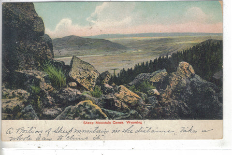 Retro Post Card-Sheep Mountain Canon-Wyoming Post Card - 1