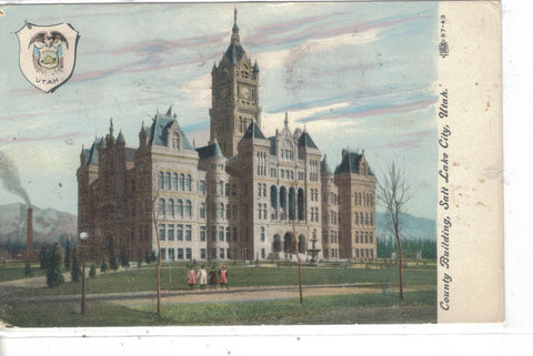 County Building-Salt Lake City,Utah 1911 Post Card - 1