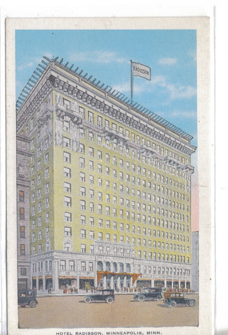 Hotel Radisson-Minneapolis,Minnesota Retro Postcard