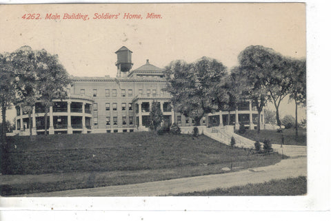 Main Building,Soldier's Home-Minnesota 1914 Post Card - 1