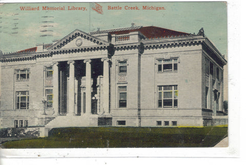 Williard Memorial Library-Battle Creek,Michigan Post Card - 1
