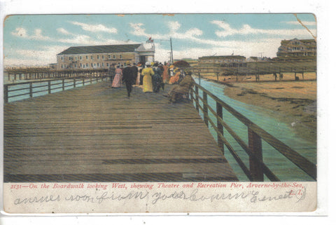 On the Boardwalk,Looking West,Showing Theatre-Averne-by-the-Sea,Long Island,N.Y. Post Card - 1