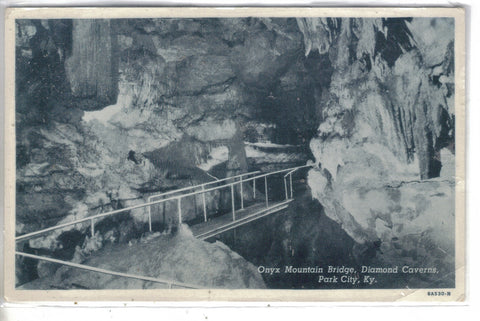 Onyx Mountain Bridge,Diamond Caverns-Park City,Kentucky Post Card - 1