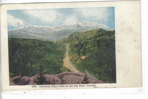 Ascending Pike's Peak on the Cog Road-Colorado 1909 Post Card - 1