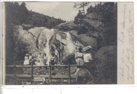 RPPC-Group of People by Helen Hunt Falls Post Card