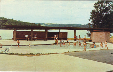 Wading Pool,Dillon Lake and State Park near Zanesville,Ohio Post Card - 1