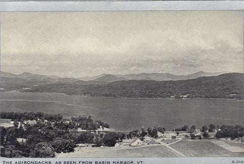 The Adirondacks as seen from Basin Harbor,Vermont -vintage postcard - 1