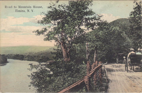 Road to Mountain House-Elmira,New York 1907 -vintage postcard - 1