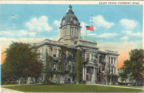 Court House-Fairmount,Minnesota -vintage postcard