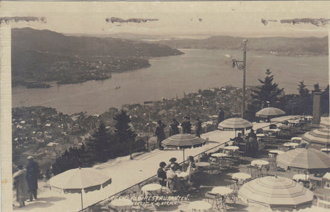 RPPC-Outdoor Restaurant-Bergen - Cakcollectibles - 1