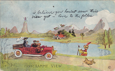 Old Post Card-Pannyrammy View signed Brill - Cakcollectibles - 1