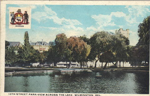 10th Street Park,View Across The Lake-Wilmington,Delaware - Cakcollectibles - 1