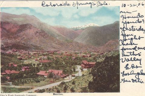 View of Manitou,Colorado 1906 - Cakcollectibles - 1