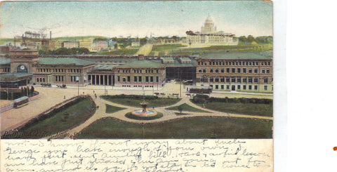 Union Station-Providence,Rhode Island 1908 - Cakcollectibles - 1