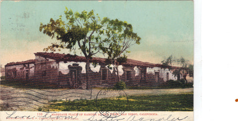 Marriage Place of Ramona at Old Town-San Diego,California 1907 - Cakcollectibles - 1