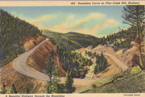 Horseshoe Curve on Flint Creek Hill-Montana - Cakcollectibles - 1