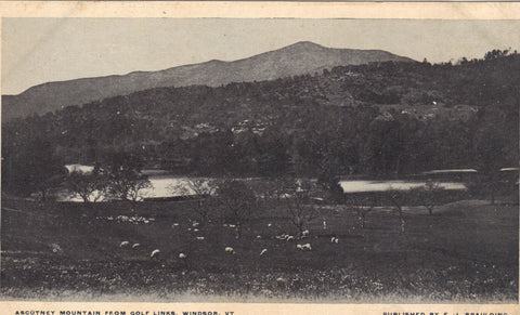 Ascutney Mountain from Golf Links-Windsor,Vermont old postcard front