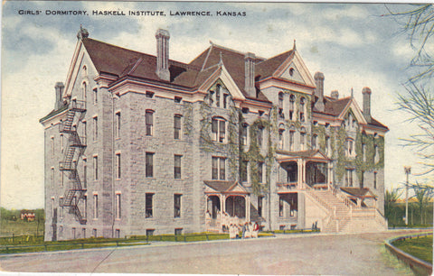 Girls' Dormitory,Haskell Institute-Lawrence,Kansas - Cakcollectibles - 1