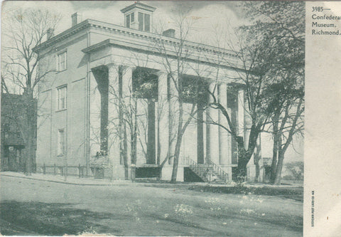Confederate Museum-Richmond,Virginia 1908 - Cakcollectibles - 1