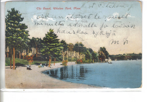 The Beach-Whalom Park,Massachusetts 1907 - Cakcollectibles - 1