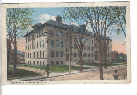 High School-Portsmouth,New Hampshire 1919 - Cakcollectibles - 1