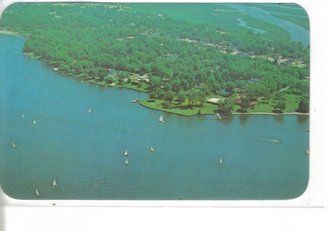 Aerial View-Sailing on Spring Lake-Grand Haven,Michigan - Cakcollectibles - 1