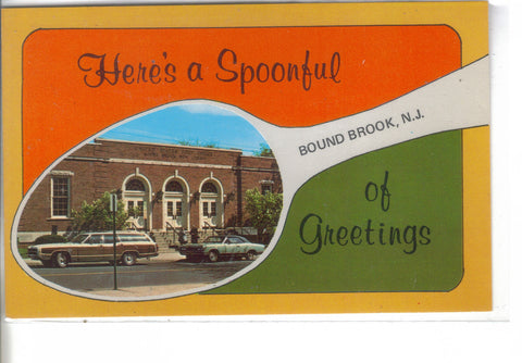 Souvenir Spoon Post Card-Bound Brook,New Jersey - Cakcollectibles - 1