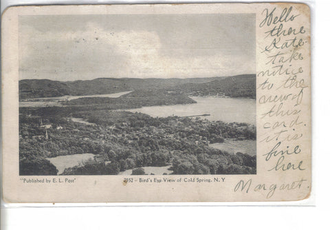Bird's Eye View of Cold Springs,New York 1906 - Cakcollectibles - 1