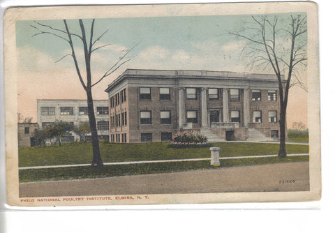 Philo National Poultry Institute-Elmira,New York old postcard front