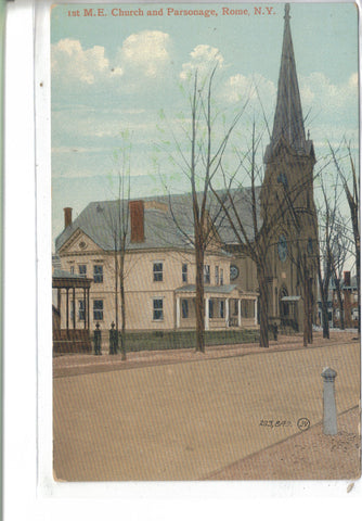 1st M.E. Church and Parsonage-Rome,New York - Cakcollectibles - 1