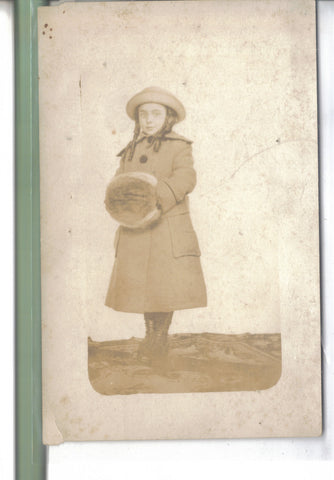 RPPC-Small Girl with Hand Warmer - Cakcollectibles - 1