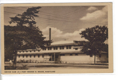 Service Club #2-Fort George G. Meade,Maryland - Cakcollectibles - 1