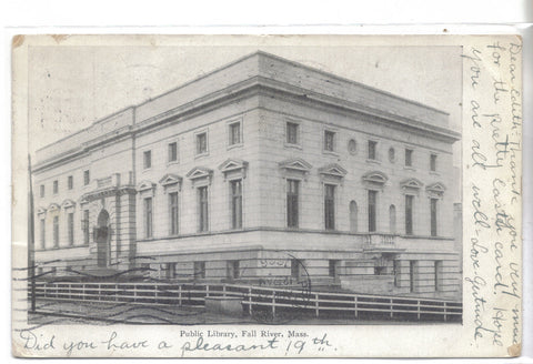 Public Library-Fall River,Massachusetts 1906 - Cakcollectibles - 1