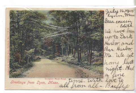 Dungeon Rook Road-Greetings from Lynn,Massachusetts 1905 - Cakcollectibles - 1