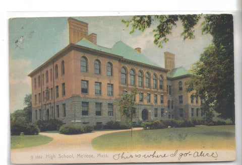 High School-Melrose,Massachusetts UDB - Cakcollectibles - 1