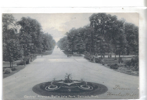 Central Avenue,Belle Isle Park-Detroit,Michigan 1906 - Cakcollectibles - 1
