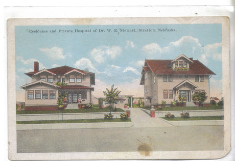 Residence and Private Hospital of Dr. W.E. Stewart-Stratton,Nebraska 1932 - Cakcollectibles - 1
