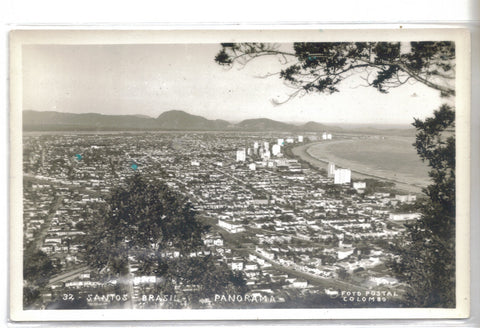 RPPC-Panoramic View-Santos,Brasil - Cakcollectibles - 1