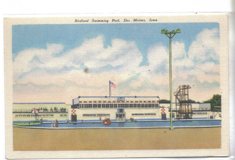 Birdland Municipal Swimming Pool-Des Moines,Iowa - Cakcollectibles - 1