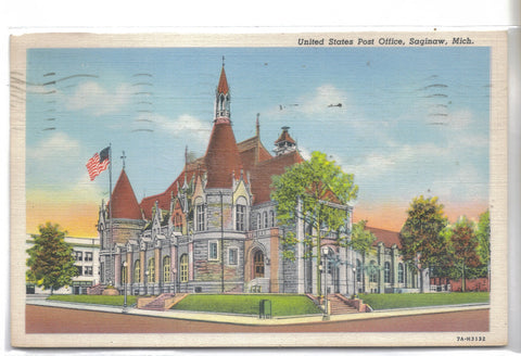 United States Post Office-Saginaw,Michigan 1946 - Cakcollectibles - 1