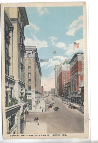 Looking West on Douglas Street-Omaha,Nebraska - Cakcollectibles - 1