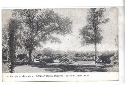 Portion of Grounds at Soldiers' Home between the Twin Cities,Minnesota - Cakcollectibles - 1