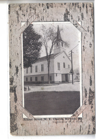 School Street M.E. Church-Berwick,Maine - Cakcollectibles - 1