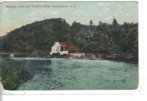 Midway Park and Wallkill River-Middletown,New York - Cakcollectibles - 1