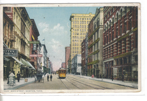 Main Street-Memphis,Tennessee 1910 - Cakcollectibles - 1