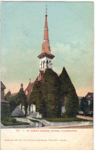 St. Luke's Church-Tacoma,Washington UDB Post Card