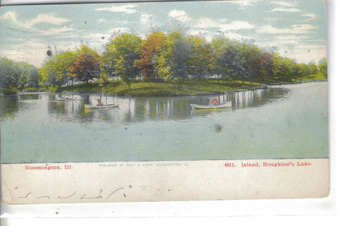 Island,Houghton's Lake-Bloomington,Illinois 1907 - Cakcollectibles - 1