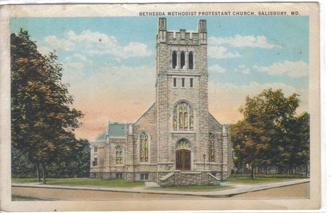 Bethesda Methodist Protestant Church-Salisbury,Maryland 1925 - Cakcollectibles - 1